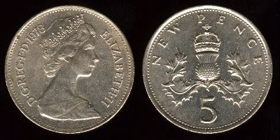 Great Britain km911 5 New Pence (1968-1981) Coin