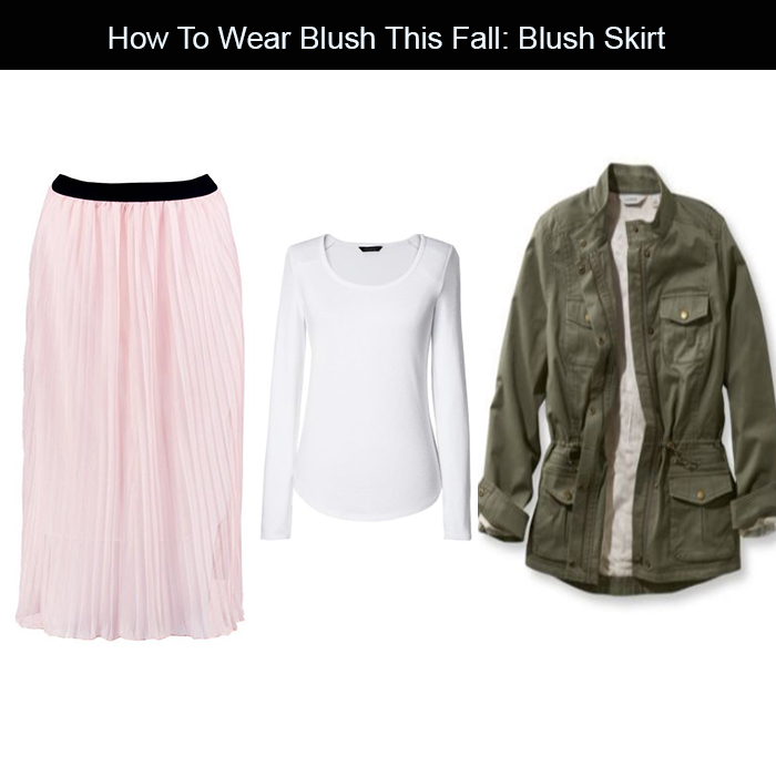 blush and olive for fall