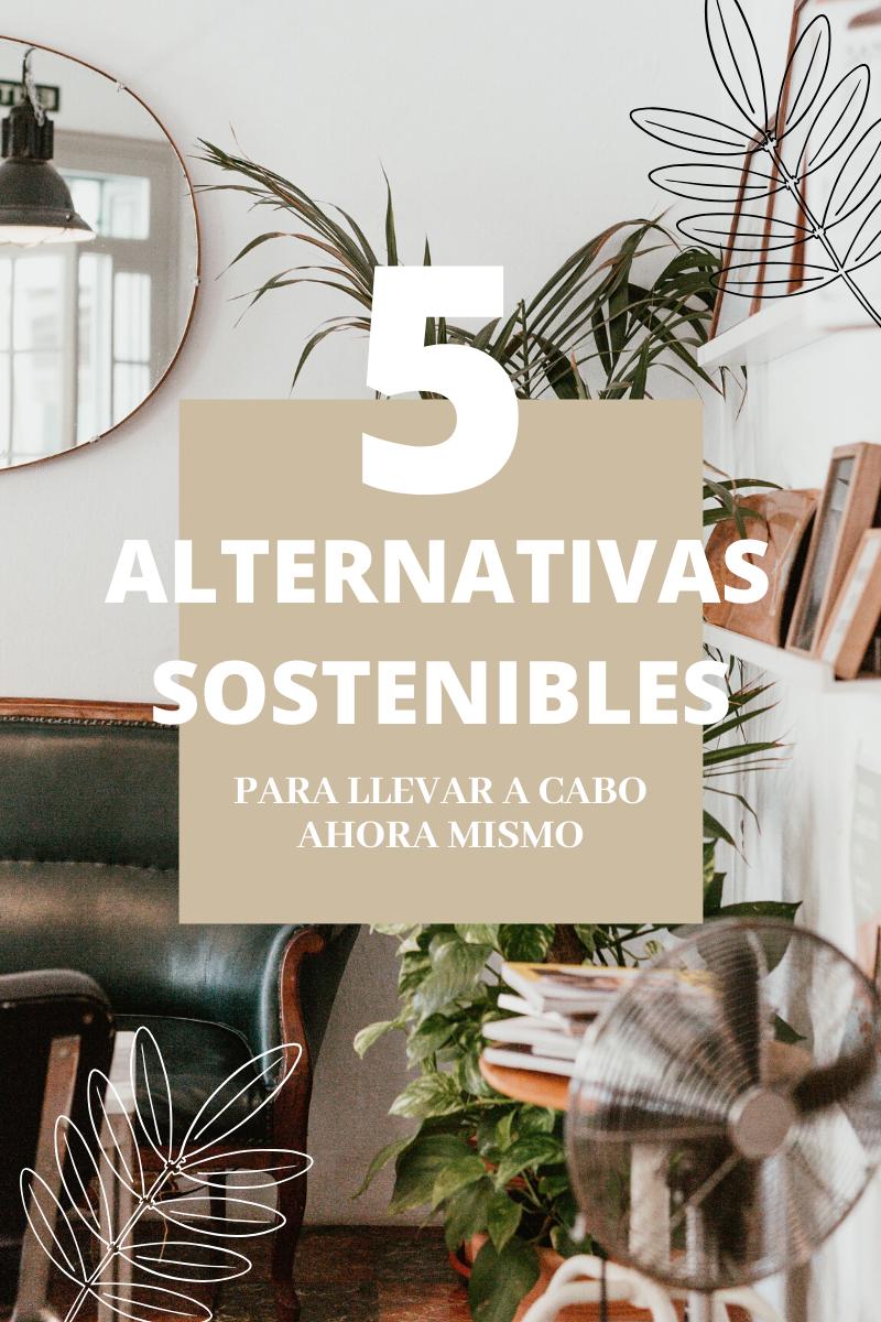 5 alternativas sostenibles para tu hogar