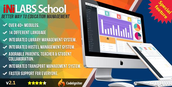 Inilabs School v2.1 – Management System Express