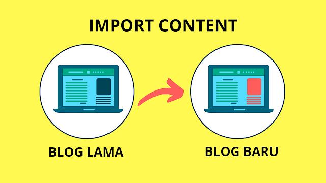 Proses import blog di platform blogger
