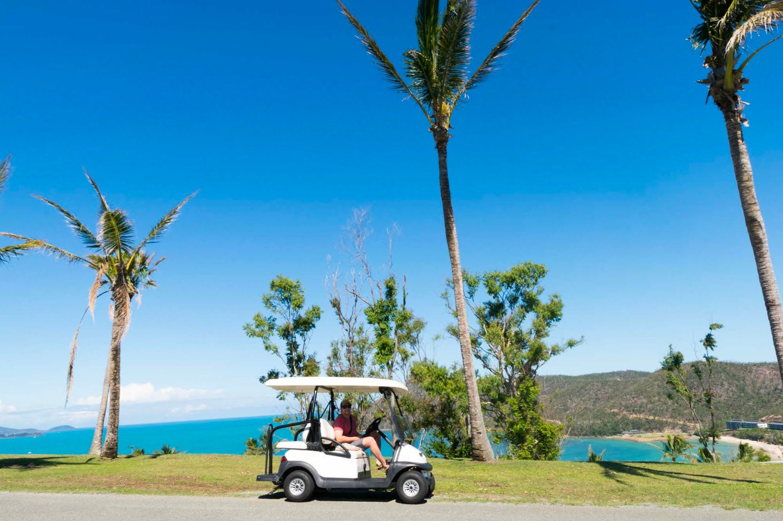 golf buggy on hamilton island