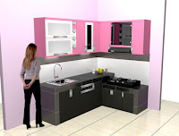 Kitchen Set Bentuk L Minimalis - Furniture Semarang