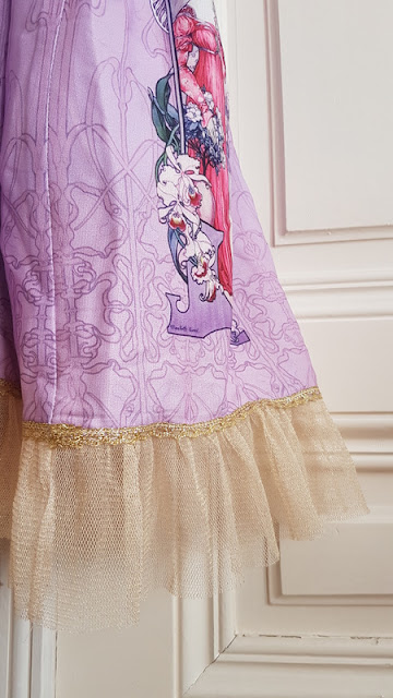 souffle song lolita fashion purple art nouveau jugendstil dress jsk auris lothol