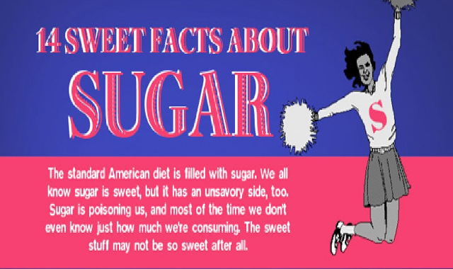 14 Sweet Facts About Sugar #infographic