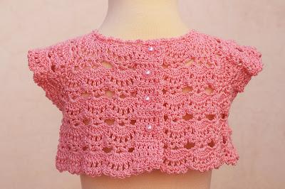 5 -Crochet Imagen Canesú rosa a crochet y ganchillo por Majovel Crochet