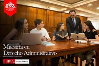 Convocatoria abierta Maestría en Derecho Administrativo de la USFQ