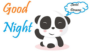 cute good night panda images
