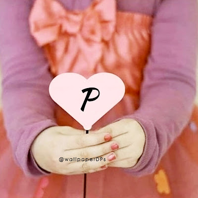 All Alphabets on Pink Heart Hold in Hands by Girl Dpz for Facebook WhatsApp