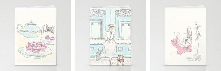 pets, paris, fashion stationery by shell sherree