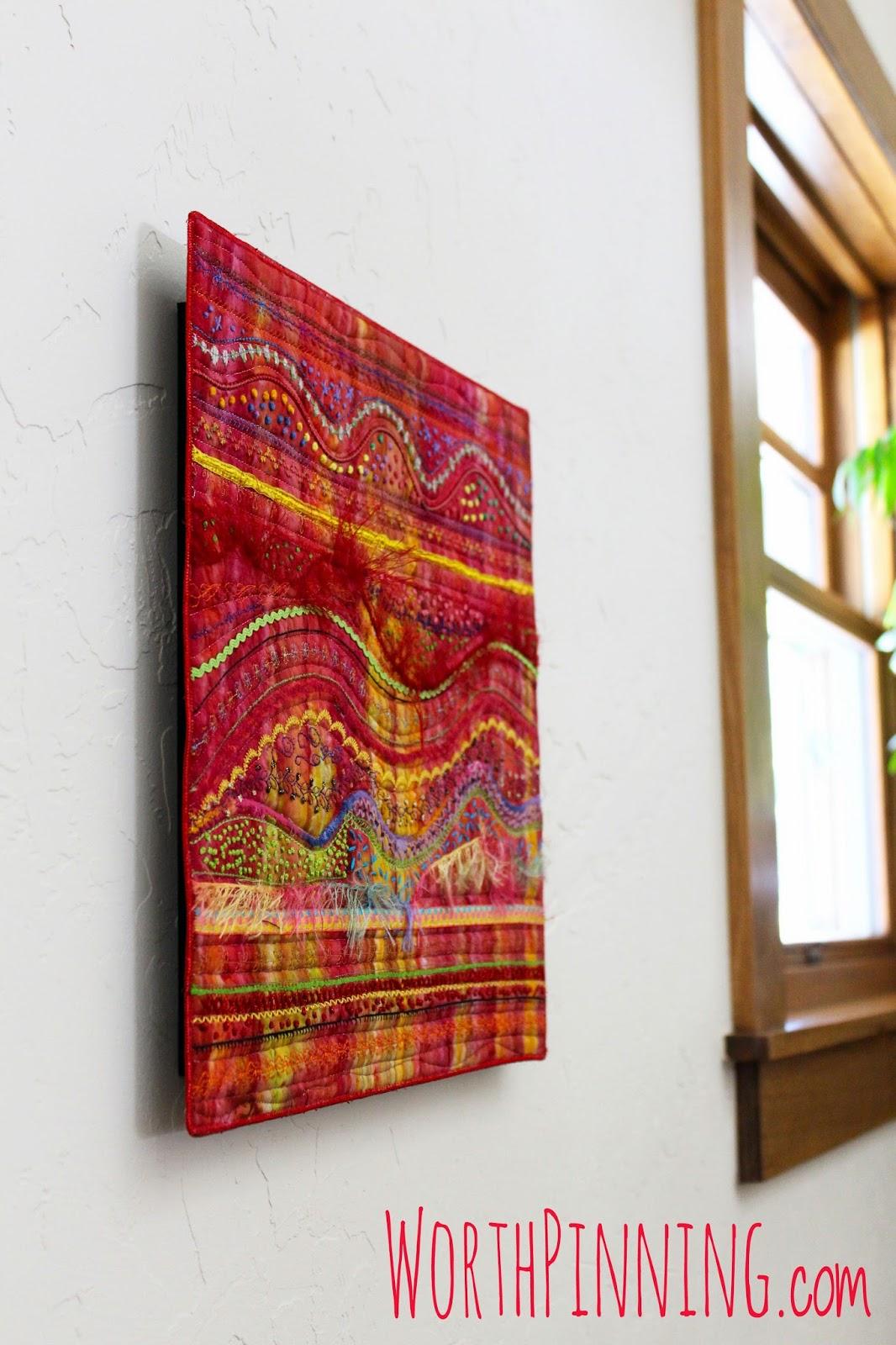 Worth Pinning: Fiber Art Wall Hanging