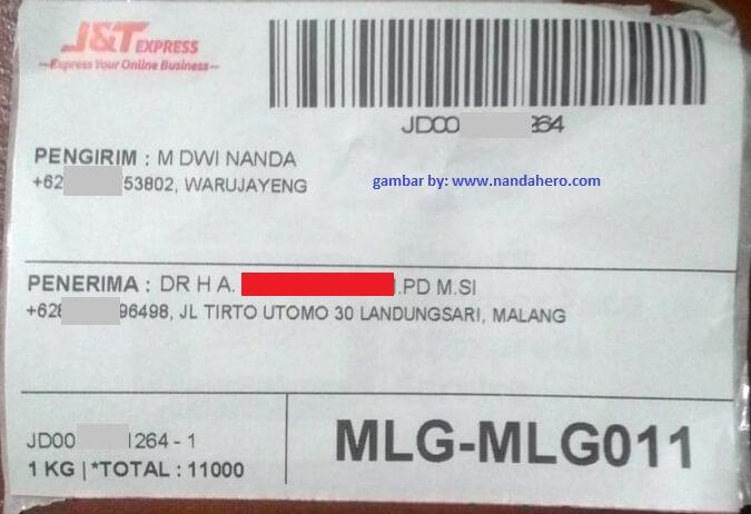 cara mengirim barang lewat j&t