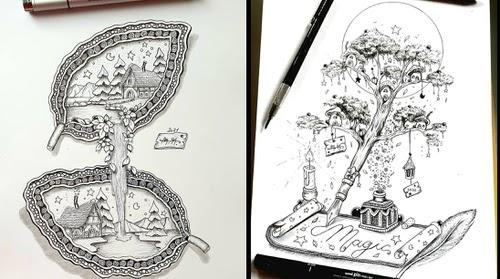 00-Magic-Illustrations-Martina-Arend-www-designstack-co