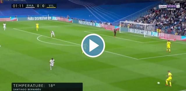 Real Madrid vs Villarreal Live Score