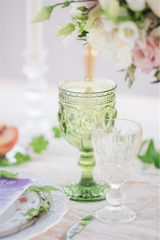 copa de cristal verde chicanddeco