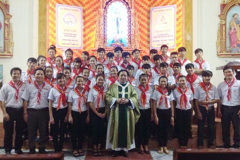 Áo TNTT giáo xứ Ngọc Long