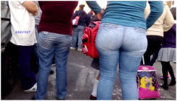 Señora nalgona jeans apretados