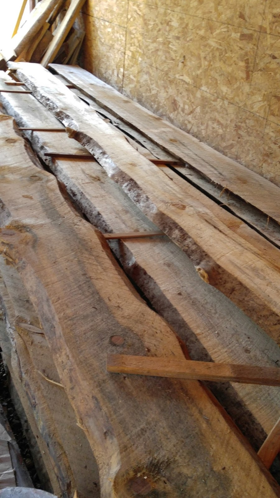 The adventures of us a new house episode 31 siding for Log slab siding
