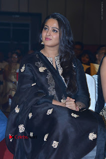 Actress Anushka Anushka Shetty Stills in Black Salwar Kameez at Om Namo Venkatesaya Audio Launch Event  0008.JPG