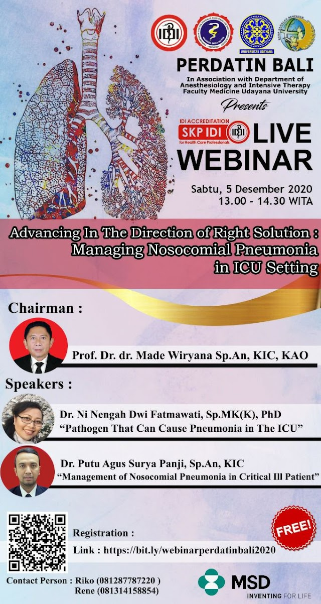WEBINAR Advancing in The Direction of Right Solution: Managing Nosocomial Pneumonia in ICU Setting