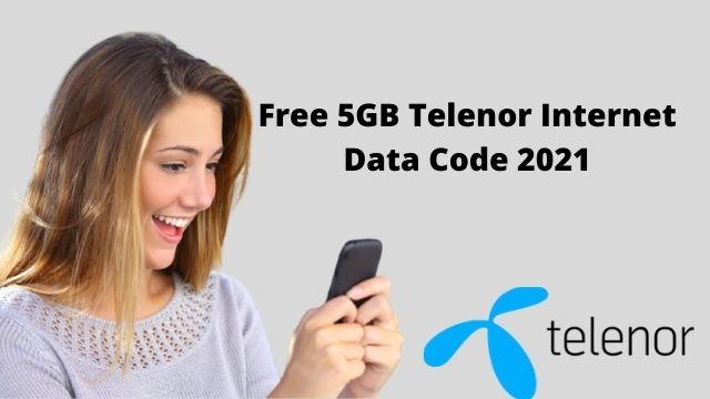 Free 5GB Telenor Internet Data Code 2021