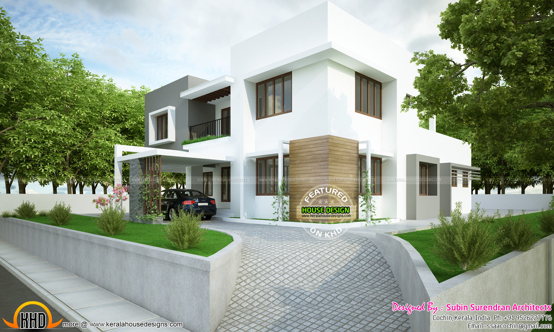 Modern Flat Roof 2300 Sq Ft Kerala Home Design And Floor
