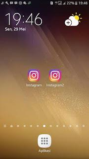 Instagram + Instagram2 Apk Clone di Android (Instwogram)
