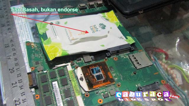 mengganti pasta pprosesor laptop yang sudah kering, laptop asus,