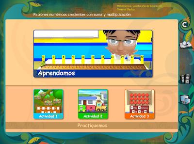 http://www.ceiploreto.es/sugerencias/ecuador/matematicas/4_patrones_numericos_crecientes/index.html