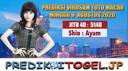 Prediksi Virdsam Toto Macau Minggu 09 Agustus 2020
