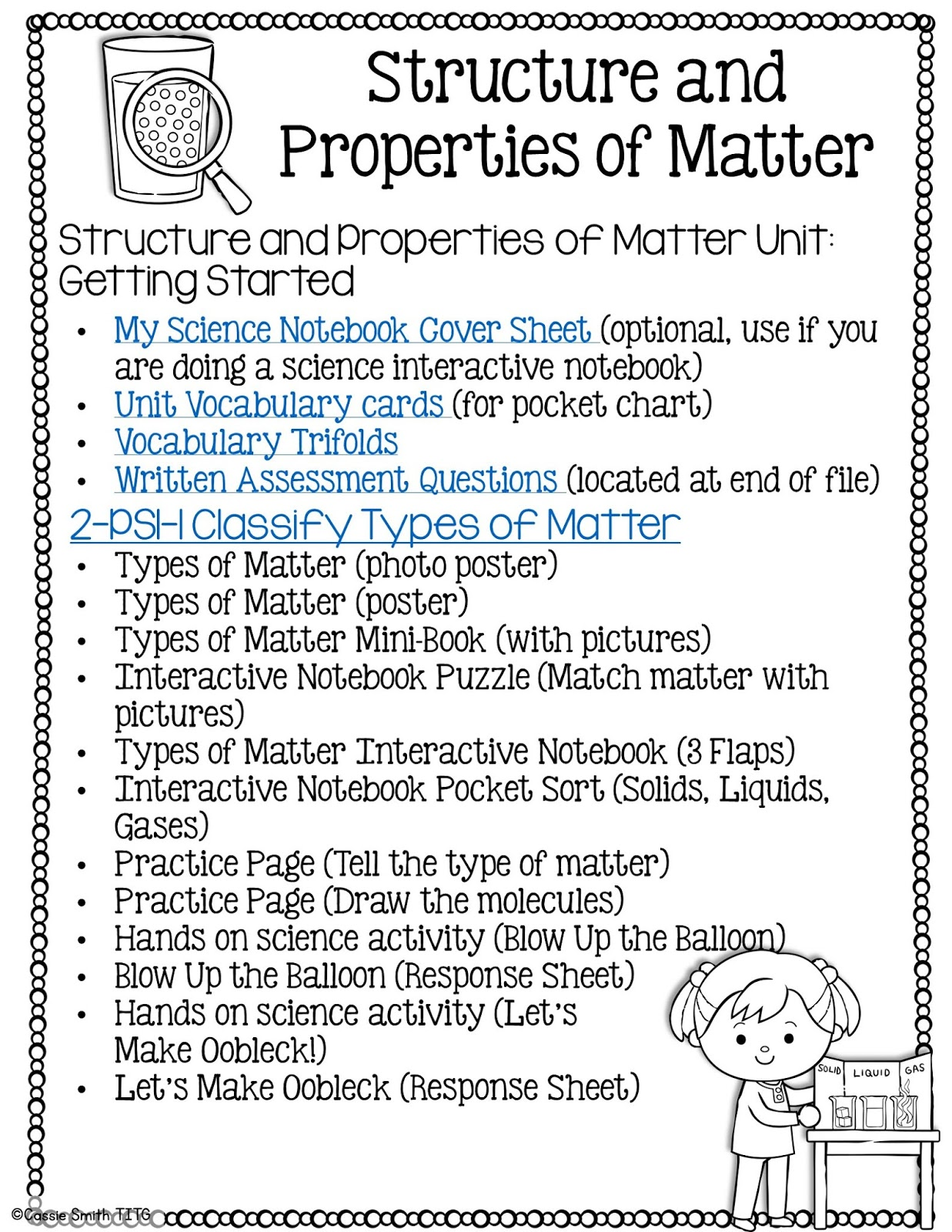 Structure And Properties Of Matter 2nd Grade Ngss