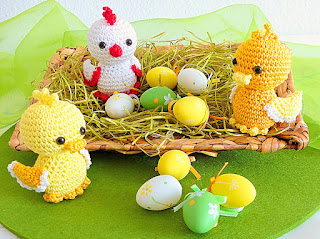 amigurumi crochet Easter Chicklet and Ducklings