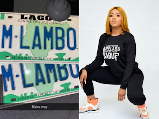 Mercy Eke Brags As She Becomes The First BBNaija Star To Own A Customized Number Plate