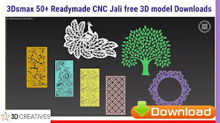 3Dsmax 50+ CNC Jali free 3D models file -Downloads