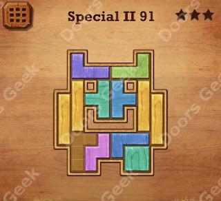Cheats, Solutions, Walkthrough for Wood Block Puzzle Special II Level 91