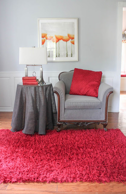Modern room rugs with bold color