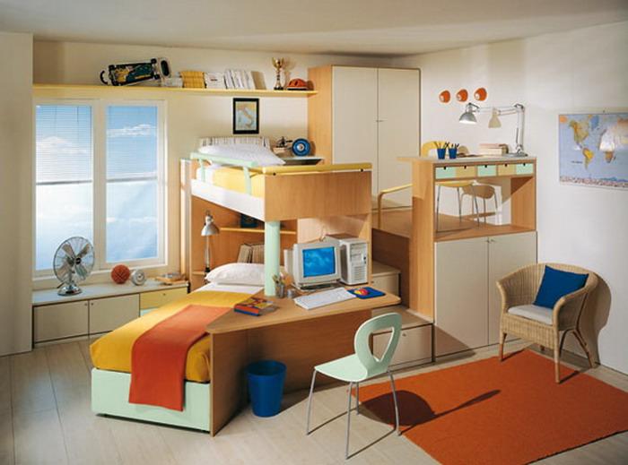decoracao moderna Cores para quartos infantis