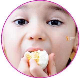 Ketika kita memakan putih telur (mengandung banyak protein). Makanan yang mengandung protein akan masuk ke mulut. Di dalam mulut, makanan dicerna secara mekanik oleh gigi melalui proses memotong, mengoyak, dan mengunyah.