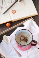 Crema de setas con crujiente de puerro y con thermomix