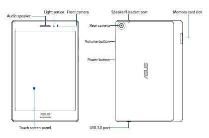 ASUS ZenPad S 8.0 Layout