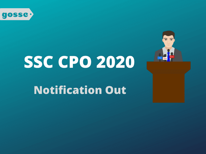 SSC CPO 2020 Notification