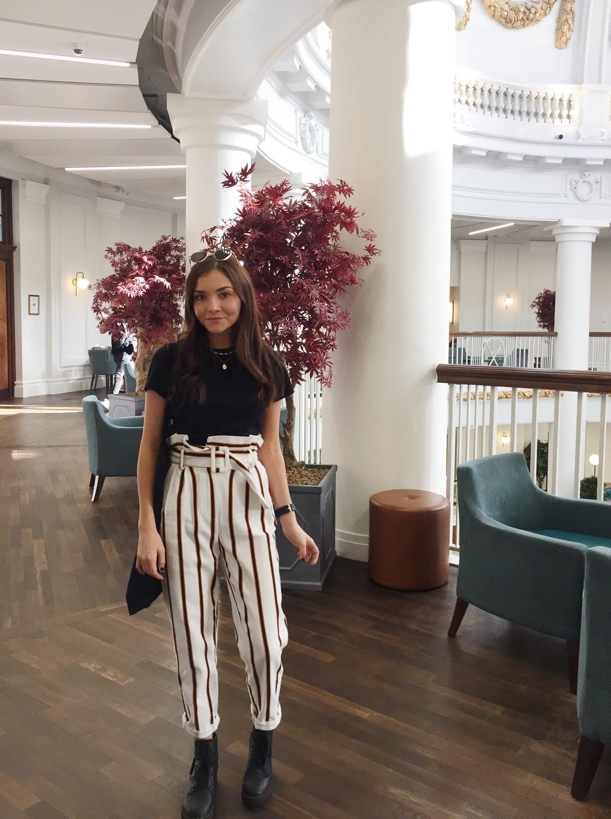 Fashion blogger at Spanish City, Whitley Bay