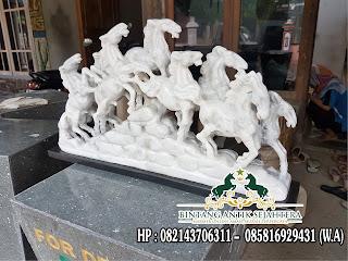 Patung Kuda Renteng, Patung Kuda Marmer, Jual Patung Kuda Marmer