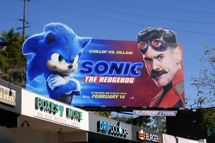 Sonic the Hedgehog cutout billboard