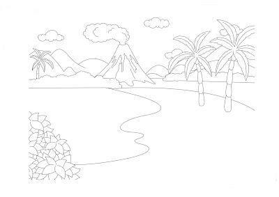 ▷ Desenhos de Paisagens para colorir e desenhar [2021]