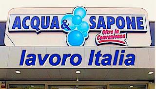 Offerte lavoro società italiana Acqua e Sapone