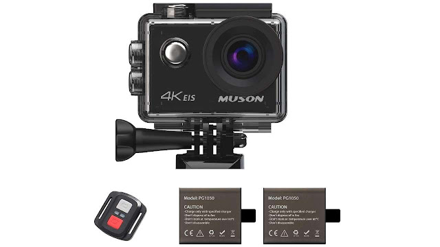Muson Action Camera 4K 16MP Underwater Cam Waterproof