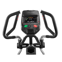 "Burn Rate Console on Bowflex E116 BXE116 Elliptical Trainer. Bluetooth compatible, 4 user profiles, 7.5"" LED color backlit display"