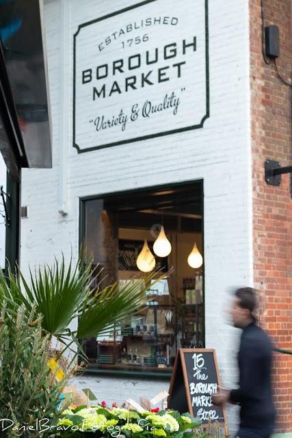 Entrada al mercado de alimentos de Borough Market