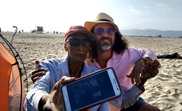 Lonny Jones and Omar Cherif at the Venice Beach Drum Circle — September 2017